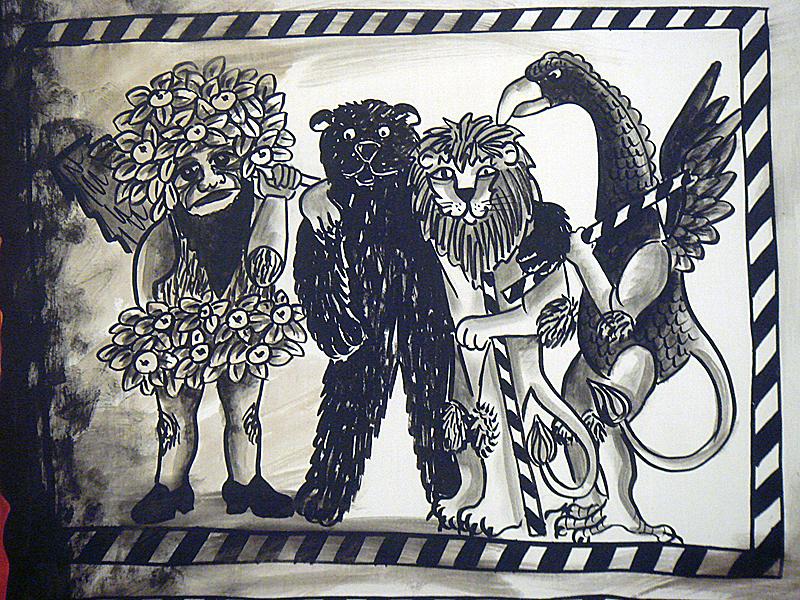 Vogel Gryff, Leu, Wild Maa und der Bär