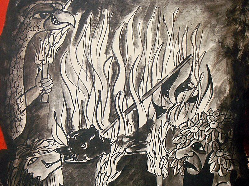 Sämtliche Akten, die auf die Gesellschaft zum Bären hinwiesen, wurden verbrannt.